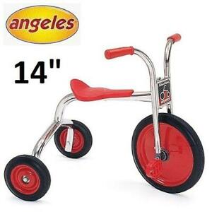 NEW* ANGELES SILVER RIDER TRICYCLE AFP0300SRC 249692089 14 WHEEL RED TRIKE BICYCLE KIDS TODDLER