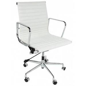 Replica Eames LowBack office chair Premium leather alumininum fra Hornsby Hornsby Area Preview
