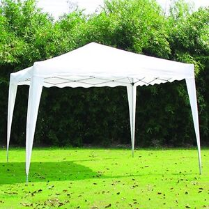 NEW 10' X 10' WHITE CANOPY GAZEBO PUT UP IN 8 MINUTES!