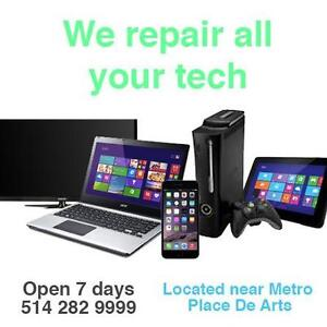 Repair for all kind of laptops, phones, tablets, TV ,Hover boards, Play station, XBOX is done here