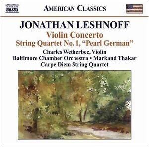 Jonathan Leshnoff: Violin Concerto/String Quartet No. 1 CD NEW