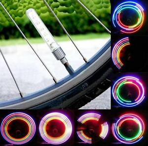BRAND NEW BIKE BICYCLE CAR MOTORCYCLE TIRE VALVE 2 LED LAMP WHEE