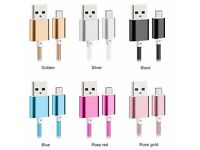 Nylon Braided Micro USB Cable Creative Charger Data Sync USB Cable Cord for iPhone/Android