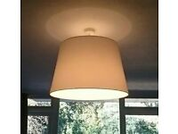 Lampshade - XL white, perfect condition.