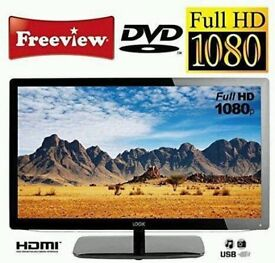 24in LOGIK LED TV 1080p FREEVIEW + BUILT-IN DVD PLAYER