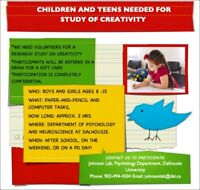 Research opportunity for kids between the ages of 8-15