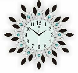 Large Crystal Glass Wall Clocks 360mm Single Face Modern Designs Metal Clock New