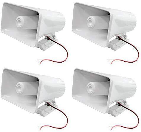 """5 Core 4PCS PA 8"""" POWER Horn 65W Peak Indoor Outdoor WATERPROOF Driver SIREN 508"""