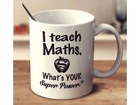 1:1 private maths tuition with an experienced, friendly tutor. GCSE, SAT's and Functional Skills.