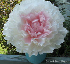 Handcrafted Coffee Filter Peony Bouquet in Teal Mason Jar Vase Belleville Belleville Area image 2