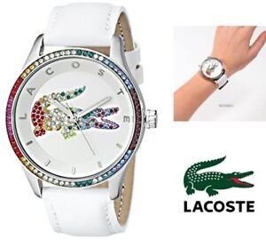 NEW LACOSTE WOMEN'S VICTORIA ANALOG DISPLAY JAPANESE QUARTZ WHIT
