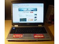 "TOSHIBA M30 LAPTOP 15.4"" LCD, 1.80GHz, 2GB, 80GB, WIFI, DVDRW, OFFICE*, ANTI-VIRUS, WINDOWS XP3"