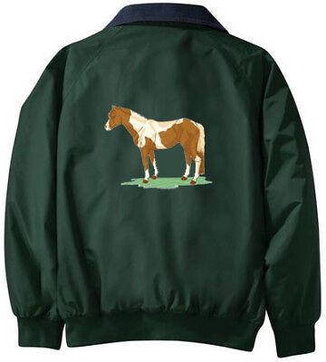 RACE HORSE embroidered denim shirt XS-XL