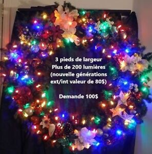 Geant illuminated (LED) christmas couronne for exterior/interior