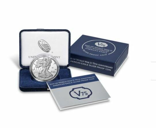 End Of World War II 75th Anniversary American Eagle Silver Proof Coin - $365.99