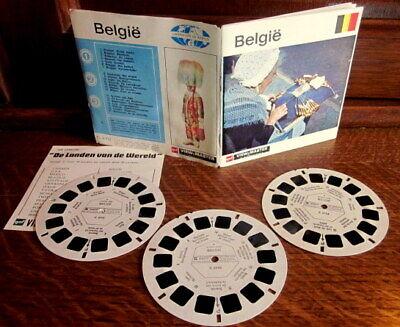 VIEW MASTER : BELGÏE - BELGIQUE : 3 disques / reels C 370 avec pochette & pub.