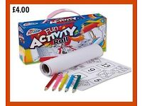 Kids Activity Roll With Pencils