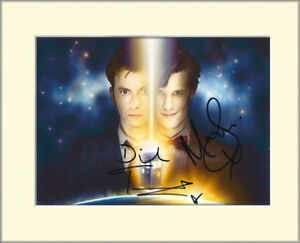 DAVID TENNANT MATT SMITH DOCTOR WHO PP MOUNTED 8X10 SIGNED AUTOGRAPH PHOTO PRINT