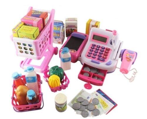 Kasse für Kinder Spielkasse Kinderkasse Kinder Einkaufswagen Kaufladen Spielgeld