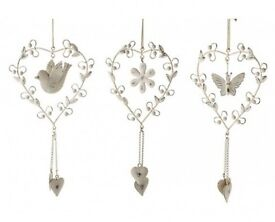 Heart, flower, butterfly hanging decorations