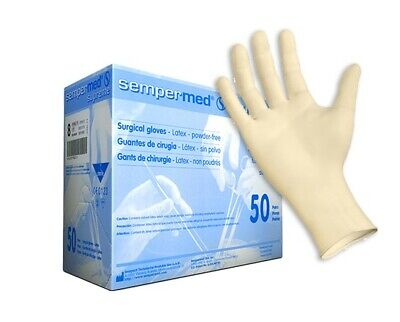 Sempermed Supreme Surgical Gloves Latex Sterile Size 7 Spfp700 Box Of 50