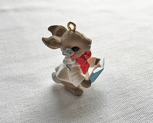 1995 Friendship Duet ~ Rabbit & Mouse Singing ~ Hallmark Miniature Ornament