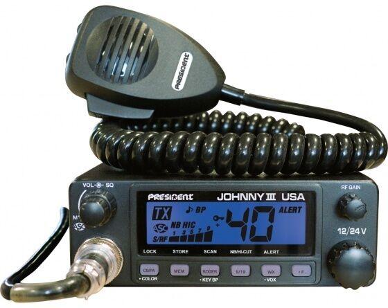PRESIDENT JOHNNY III USA CB RADIO 12 VOLT/24 VOLT, ASC