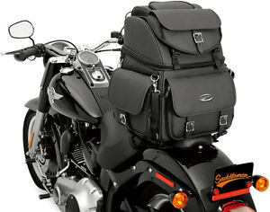 SADDLEMEN BR3400EX BACK SEAT OR SISSY BAR BAG - HARLEY TOURING LUGGAGE PACK