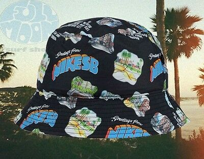 Board Hat (New Nike Action SB Skate Board Greetings From Bucket Cap Hat )