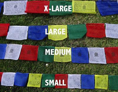 25 Tibetan Buddhist Prayer Flags Cotton Made by Tibetan Refugees X-LARGE