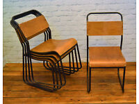44 available ply stacking vintage chairs antique industrial restaurant retro seating cafe wooden