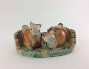 Vintage Squirrel Salt and Pepper shakers
