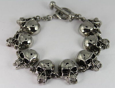 Vampire Skull Gents Bracelet 8.5 Custom Sizes Available Daytona Candy Tattoo