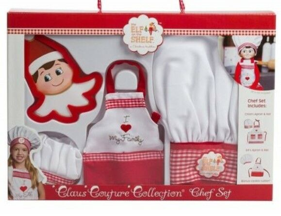 Elf on the Shelf Clause Couture Collection Chef Set, NIB