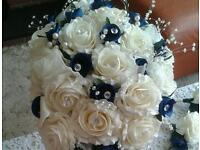 Wedding bouquets all colours also fo buttonholes etc