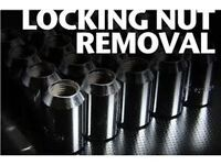 Martin's Garage locking wheel nut removal Glasgow