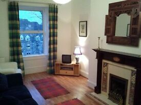 Morningside Beautiful 2 Bed Furn Flat £850 pcm Fresh Decor Fitted Kitchen Victorian Fireplace