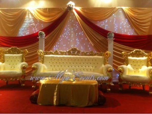 Mehndi Stage Hire : Chair cover hire 79p wedding stage £299 catering £5.99