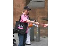 Flyering Job Handing Out Leaflets (flyers) Promotions Work in Central London