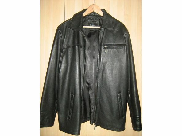 HI BUXTER LEATHER Black jacket