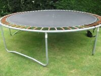 Large used garden trampoline approx 14ft in diameter