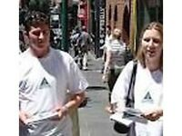 Promotions Work Flyer Job Handing Out Leaflets in Central London