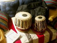 Tabla Drum Set complete with Stands, Bag, Tuning Hammer and Beginners Guide