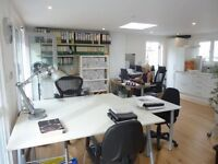 4 desk spaces in lovely office in mews off Hove seafront