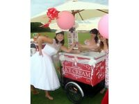 ICE CREAM CART BIKE TRICYCLE HIRE ESSEX SUFFOLK NORFOLK CAMBRIDGE LONDON WEDDING CORPORATE