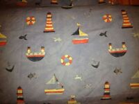 John Lewis - Curtains for Boys with matching light shade