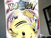 limited rare edition Pokemon comic electric pikachu boogaloo signed by the voice actor of ash