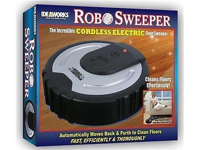 Robo Sweeper Cordless Electric Floor Cleaner Broom RoboSweeper Ideaworks Sweep on Rummage