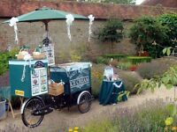 ICE CREAM CART BIKE TRICYCLE HIRE ESSEX SUFFOLK NORFOLK CAMBRIDGE LONDON WEDDING CORPORATE