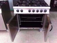 6 BURNER FASTFOOD GAS COOKER + COMMERCIAL OVEN CATERING MACHINE TAKEAWAY DINER SHOP KITCHEN CAFE